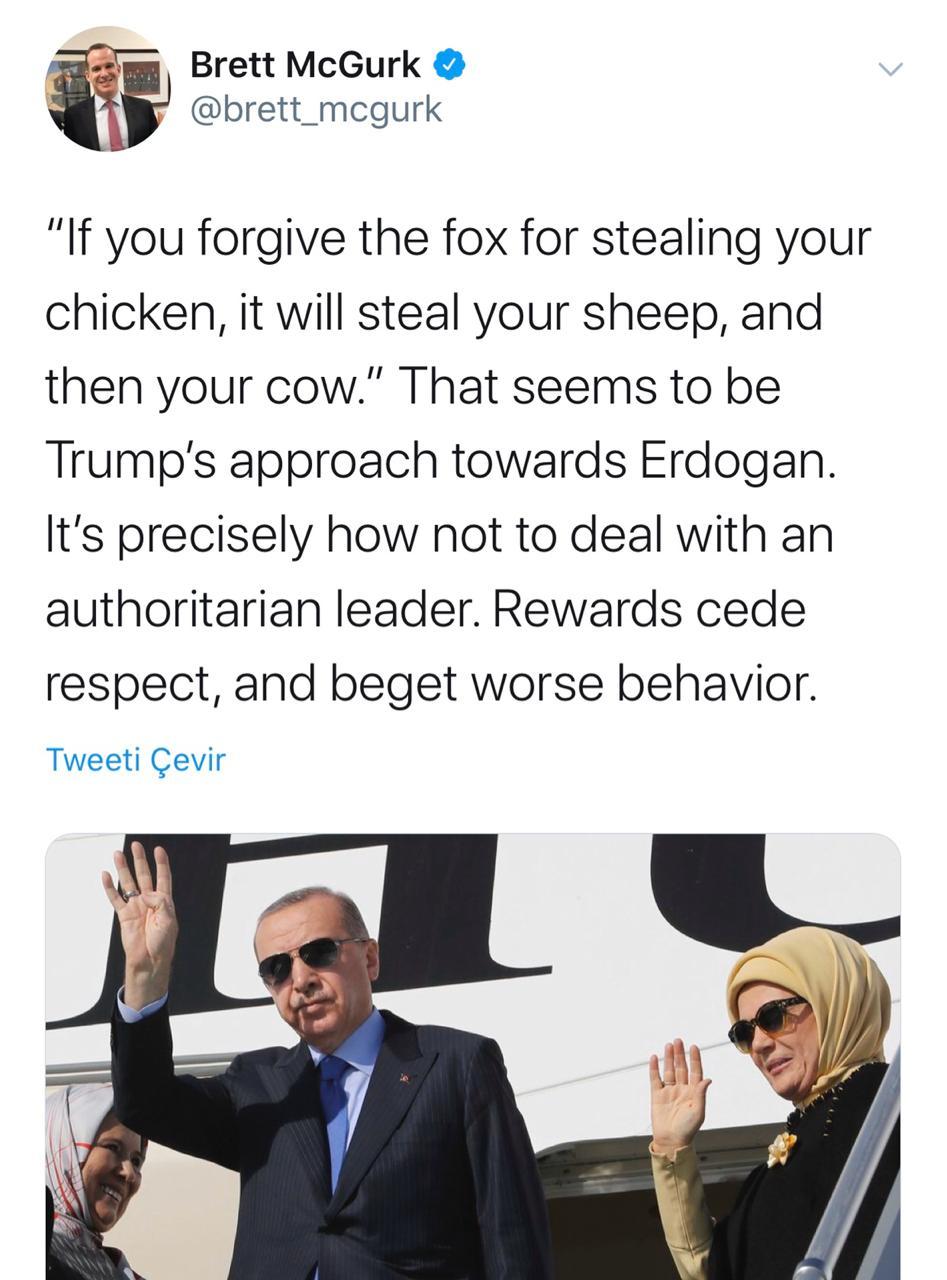 McGurk'tan Erdoğan'a 15 soru