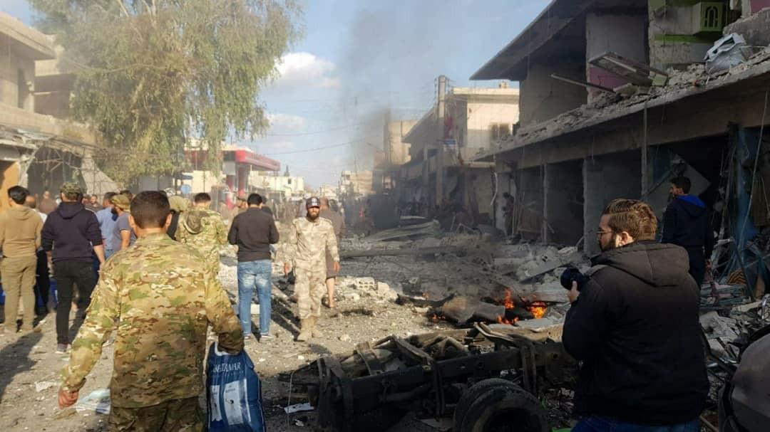 Girê Spî'de patlama çok sayıda ölü ve yaralı var