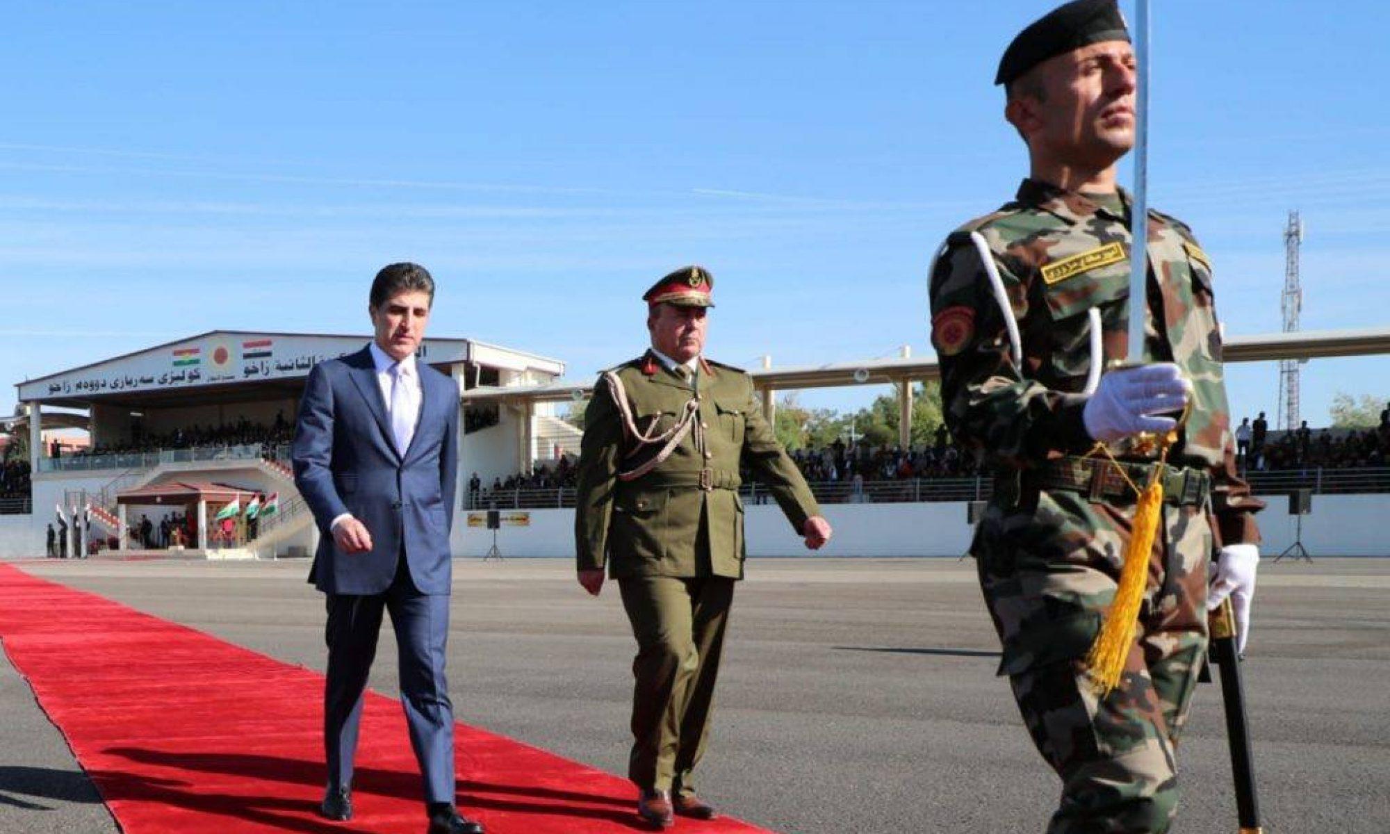 Neçirvan Barzani, Peşmerge, Zaho, ulusal ordu