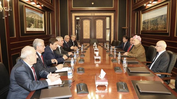 Mesut Barzani ENKS heyetini kabul etti