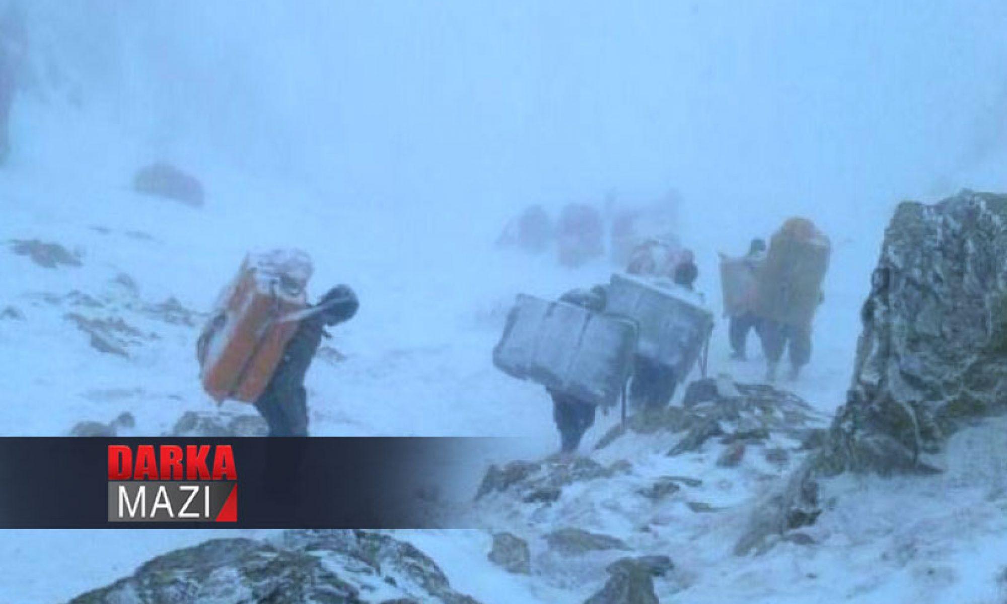 Doğu Kürdistanda Kolberlerin çilesi bitmiyor, kar fırtınasında can kaybı yaşandı