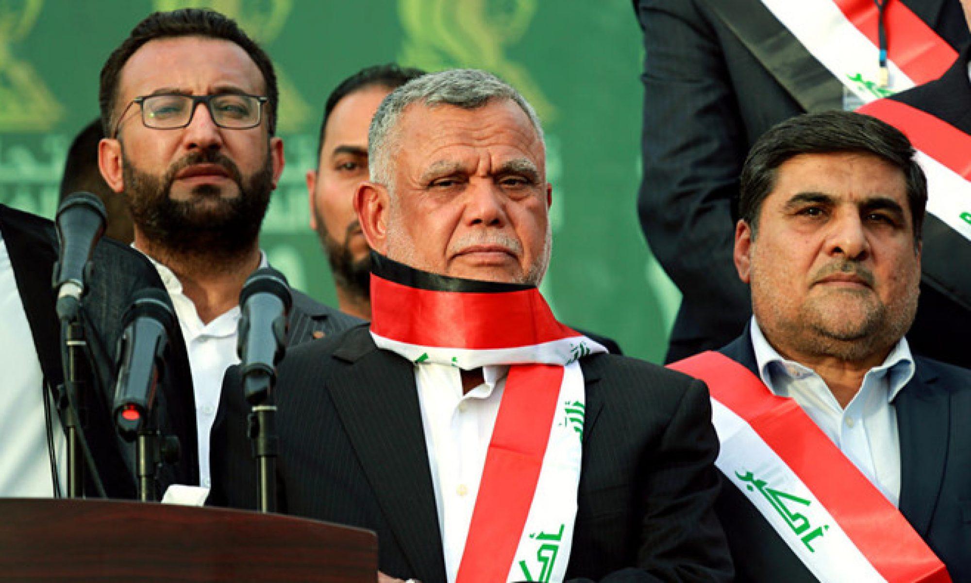 Basra'da Göstericiler Hadi Amiri'nin Karargahını yaktı