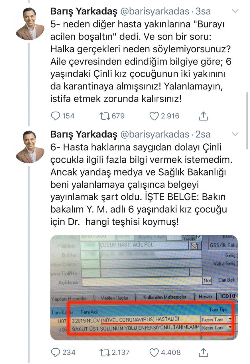 Koronavirüs Türkiye'ye geldi, bakanlık saklıyor iddiası