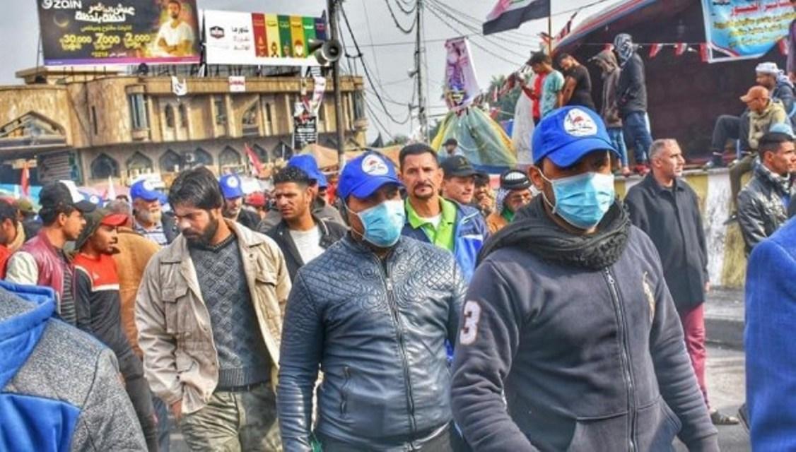 Irak, Bağdat,Sadr'ın Mavi şapkalıları göstericilere saldırdı