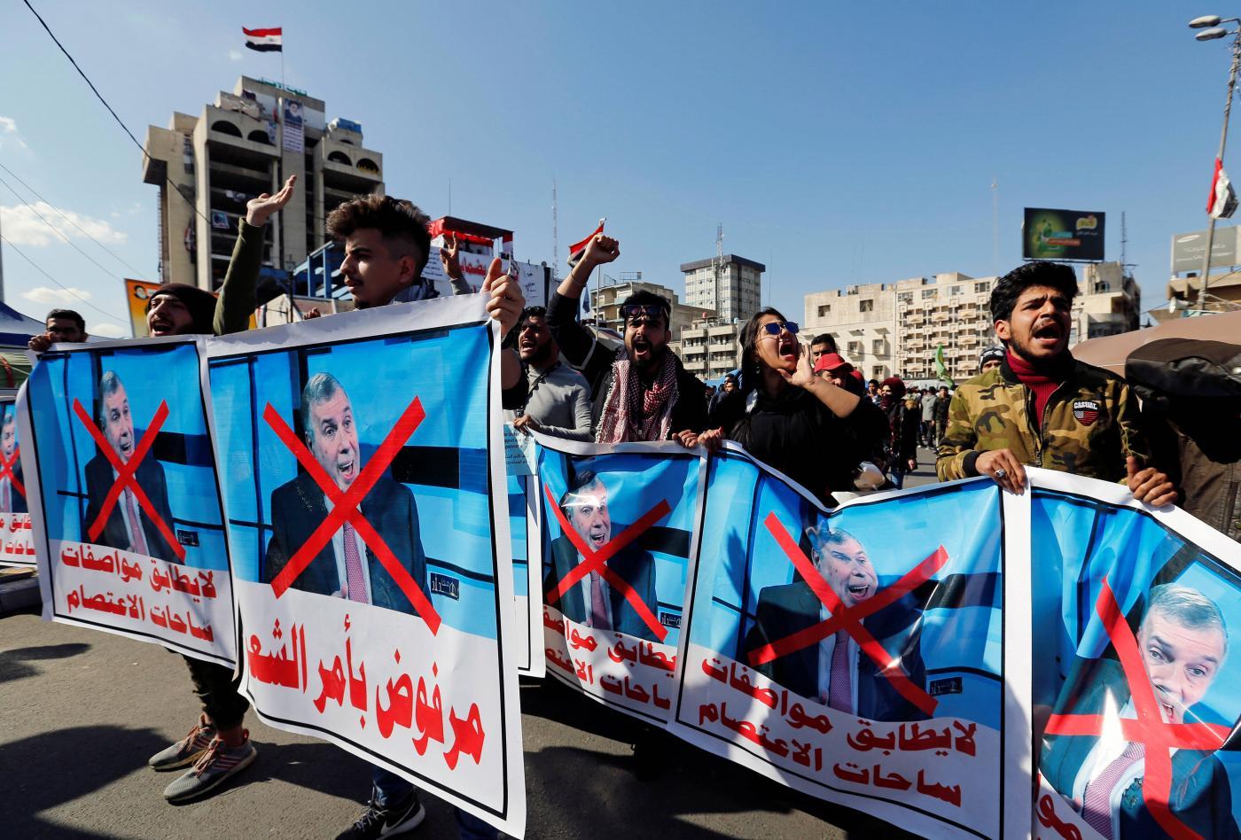 Irak: Göstericiler Muhammet Tevfik Allavi'ye hükümet kurma görevinin verilmesini protesto etti