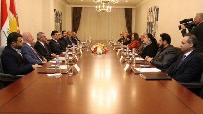 Başkan Neçirvan Barzani, Bağdat'taki Kürt temsilcilerle görüştü