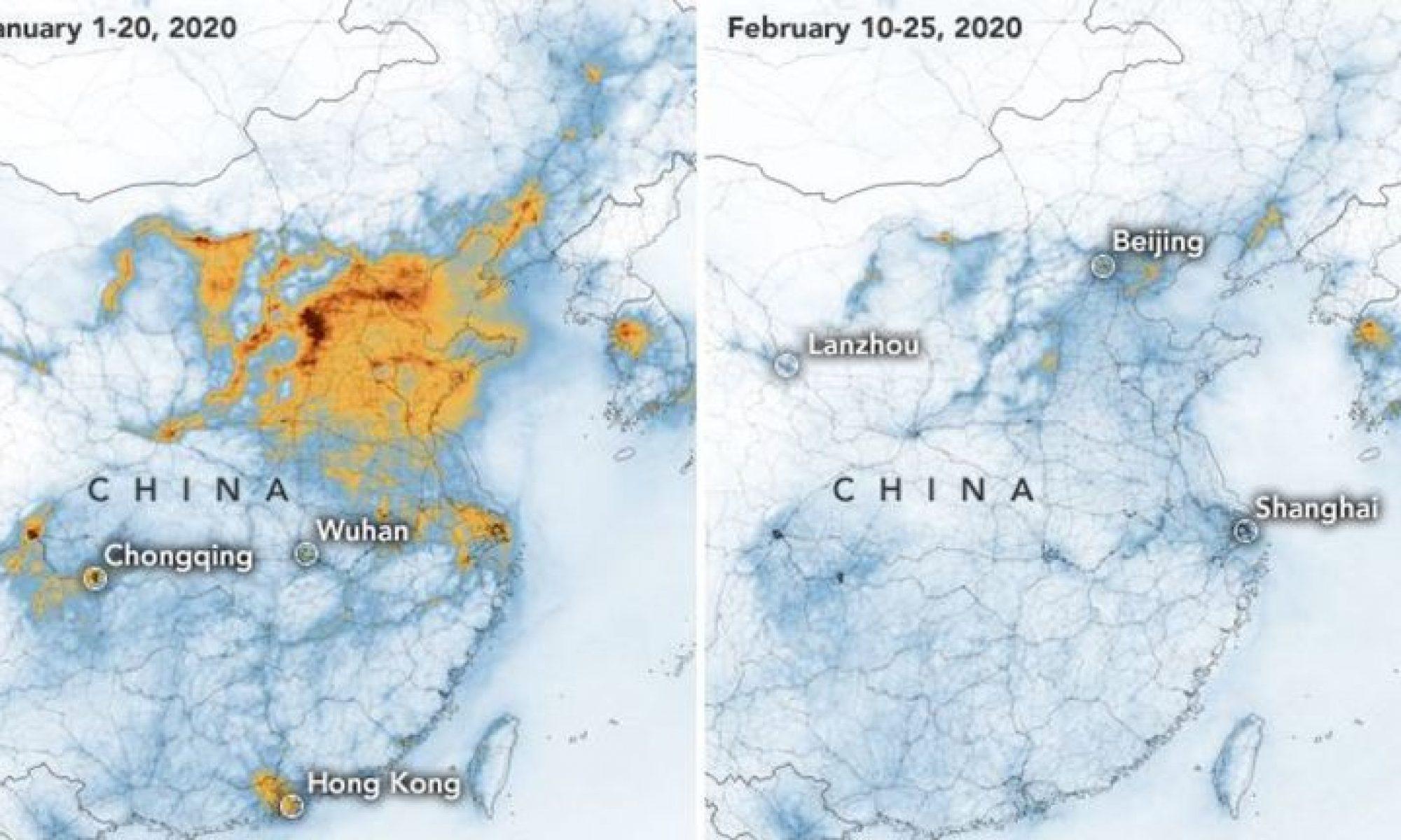 NASA: Coronavirüs Çin'de havayı temizledi