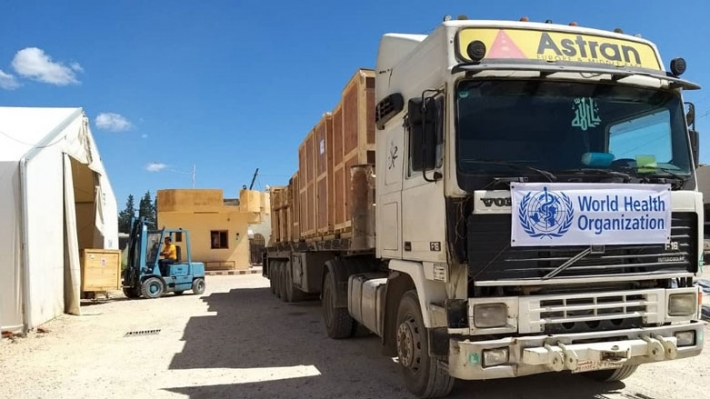 WHO'dan Rojava'ya 30 tonluk tıbbi yardım