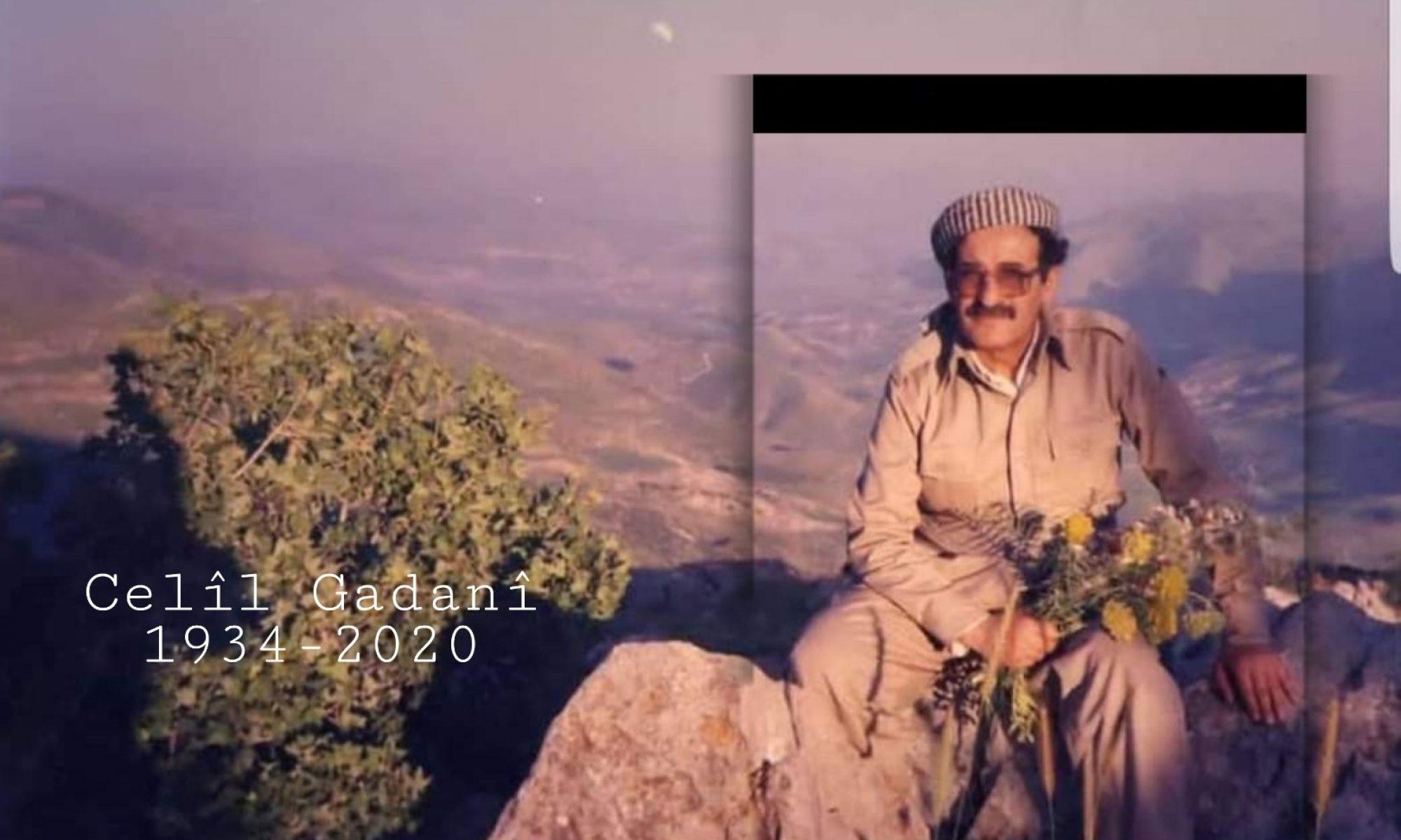PDK-Rojhilat'ın yöneticisi Celil Gadani Corona nedeni ile hayatını kaybetti