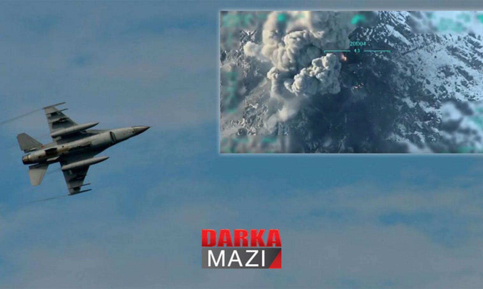 Duhok il sınırları içinde TSK'dan üç ayrı noktaya hava saldırısı
