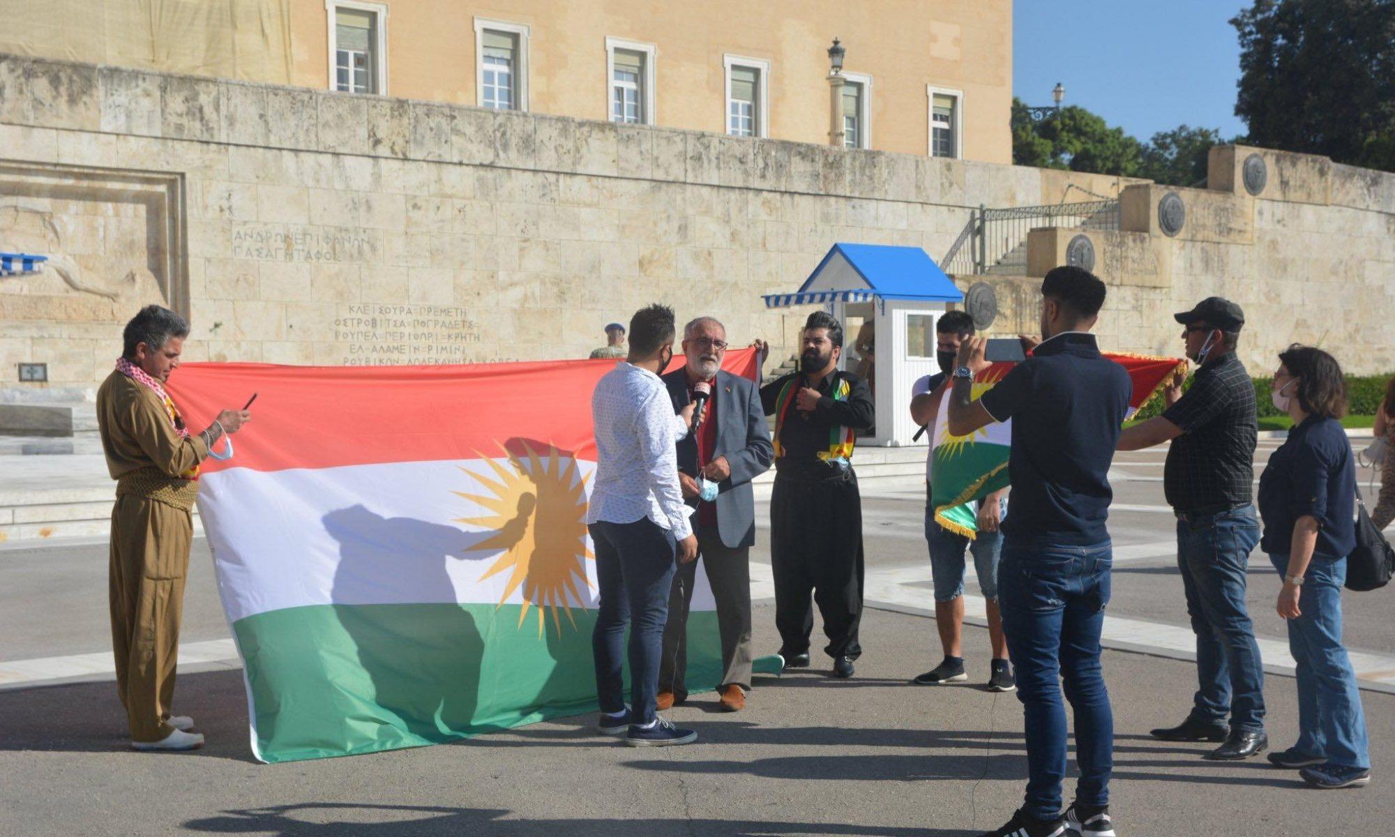 Atina'da referandumun 3'üncü yılını kutlayan Kürtler: Kürt halkıda tüm dünya hakları gibi bağımsız devlet kurmayı hak ediyor