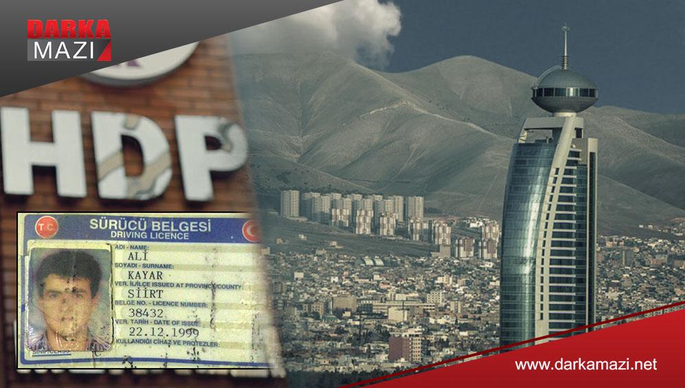 HDP Yöneticisi Ali Kayar iki aydır Süleymaniye şehrinde kayıp
