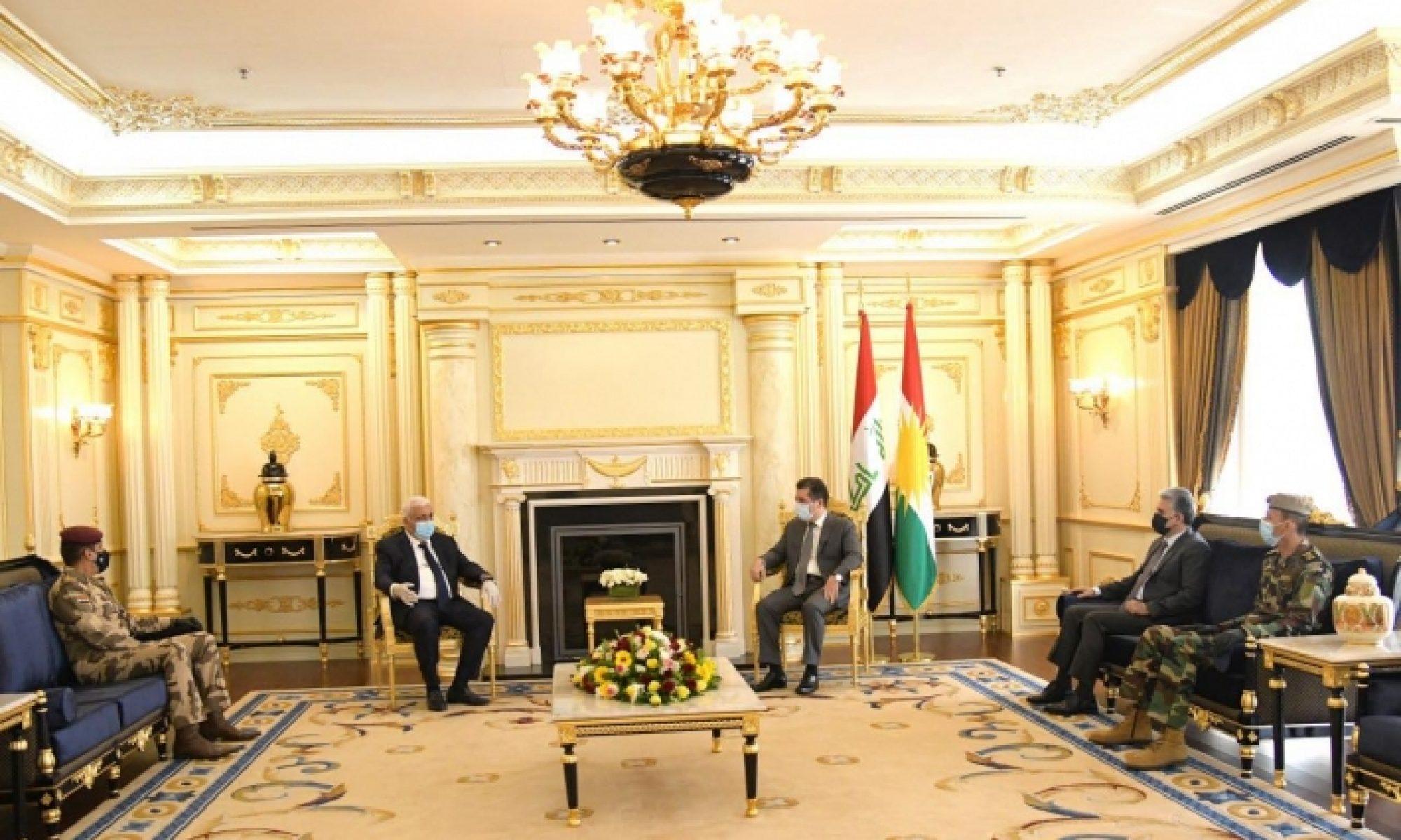 Haşti Şabi Heyeti Başkanı ve Irak Genelkurmay Başkanı Hewler'de kabul edildi