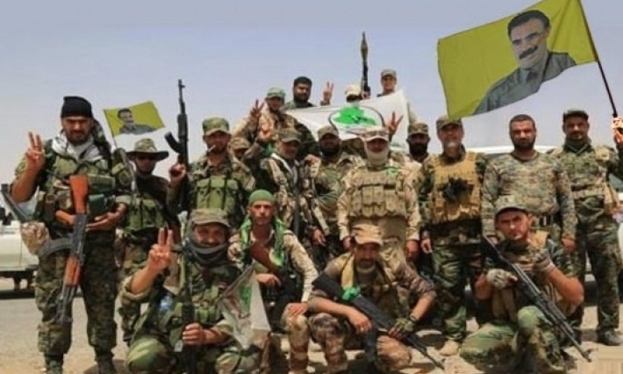 Federal polis güçlerinin anlaşmanın uygulanmasının bir adımı olarak Haşdi Şabi ve PKK'ye ait bayrak ve flamalar indirildi.