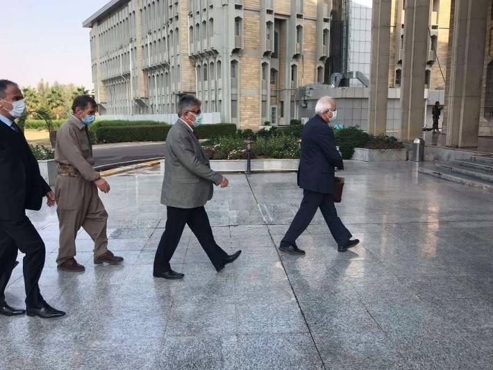 Kuzey Kürdistan'dan bir heyet Kürdistan Parlamentosunu ziyaret etti