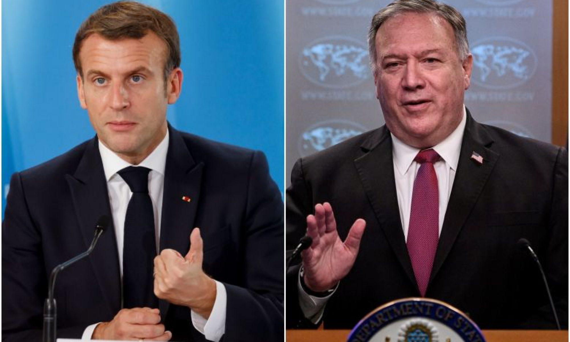 Macron ile görüşen Pompeo: Türk askeri kapasitesinin gittikçe artan şekilde kullanımı bizi endişelendiriyor, Macron, Ellse