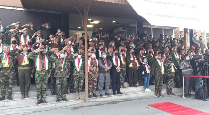 Peşmerge Bakanlığında Uluslararası Koalisyonun'da katılımı ile Kürdistan Bayrak Günü kutlandı