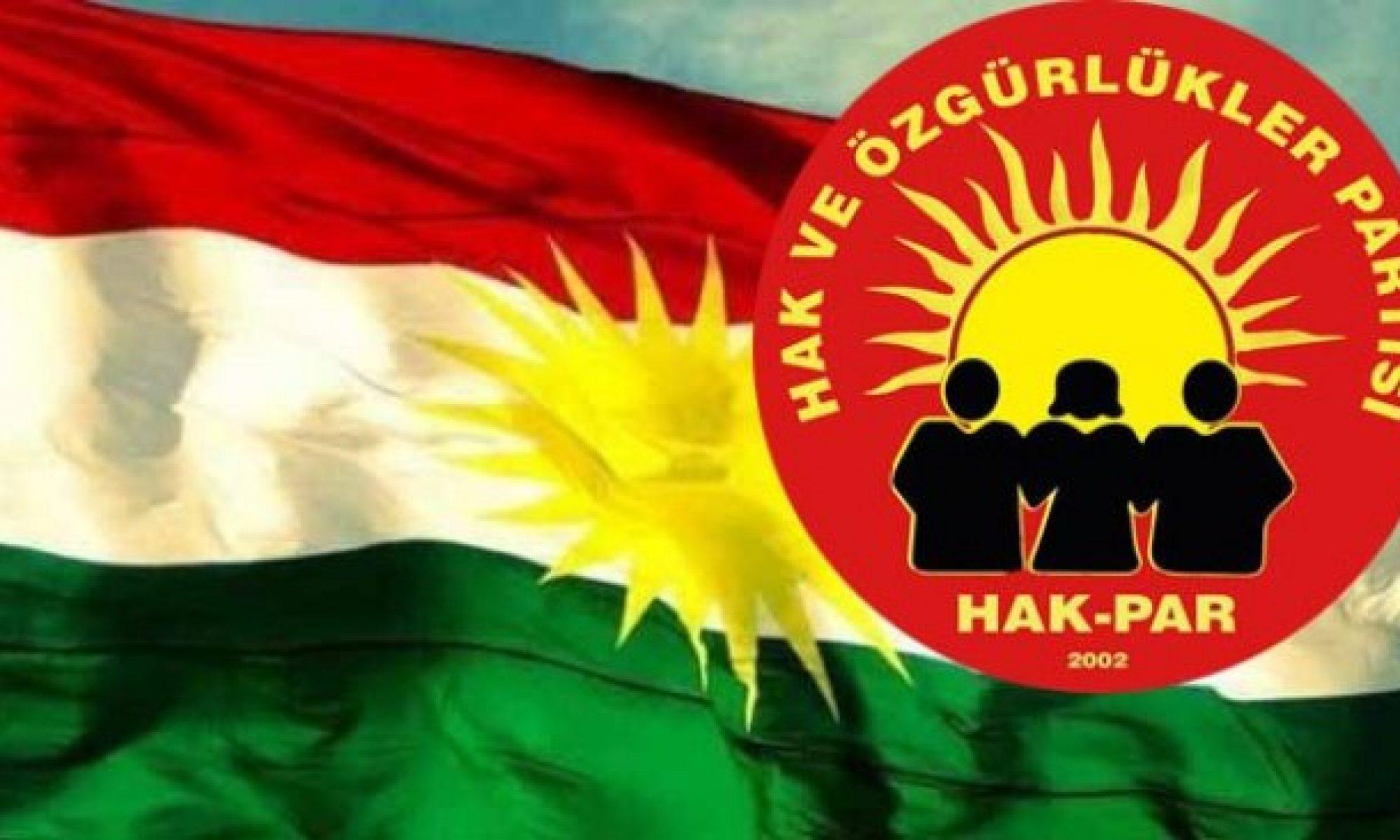 """HAK-PAR: """"PKK, Federal Kürdistan statüsünü zayıflatarak ortadan kaldırmayı amaçlayan düşman güçlerle iş birliği halindedir"""""""