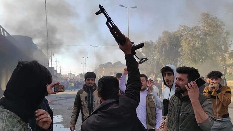 PKK'liler Kifri'de KDP binasına kalaşnikof silahlarla saldırdı, Germiyan, Kelar, gösterici, Haşdi Şabi