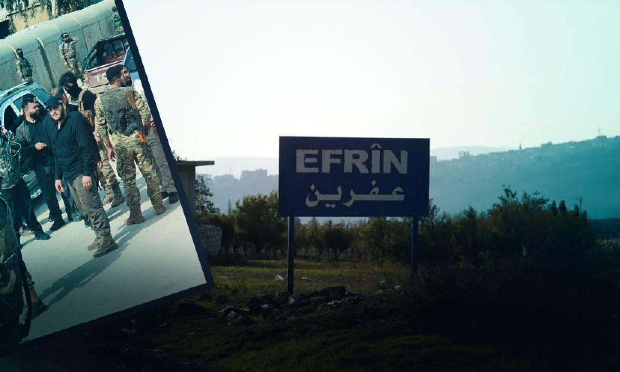 Afrin'de halk, bir kadını kaçırmak isteyen çetelere silahla cevap verdi