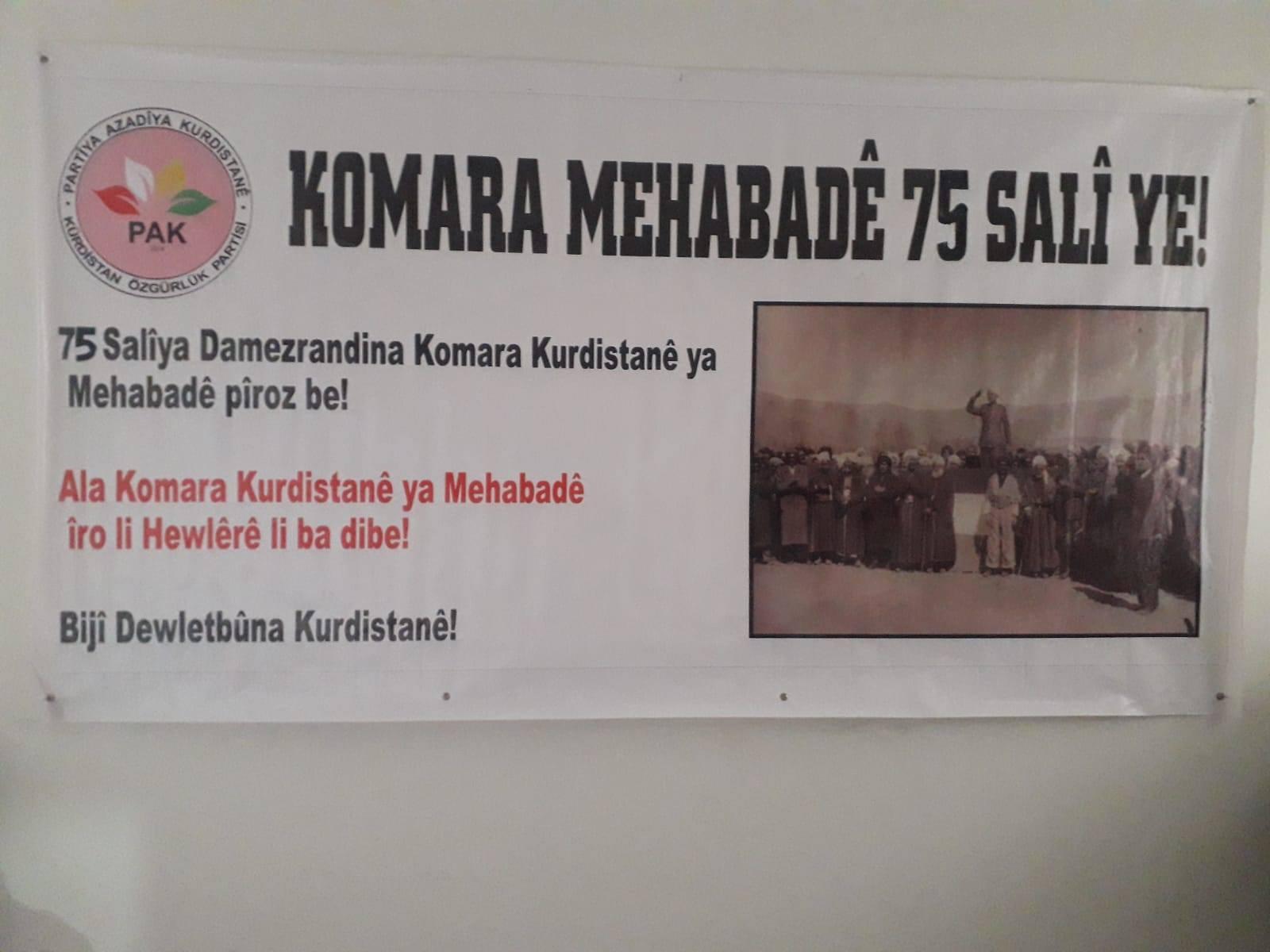 Kürdistan Cumhuriyeti Kürdistan tarihinde onur duyulacak büyük bir tecrübedir.