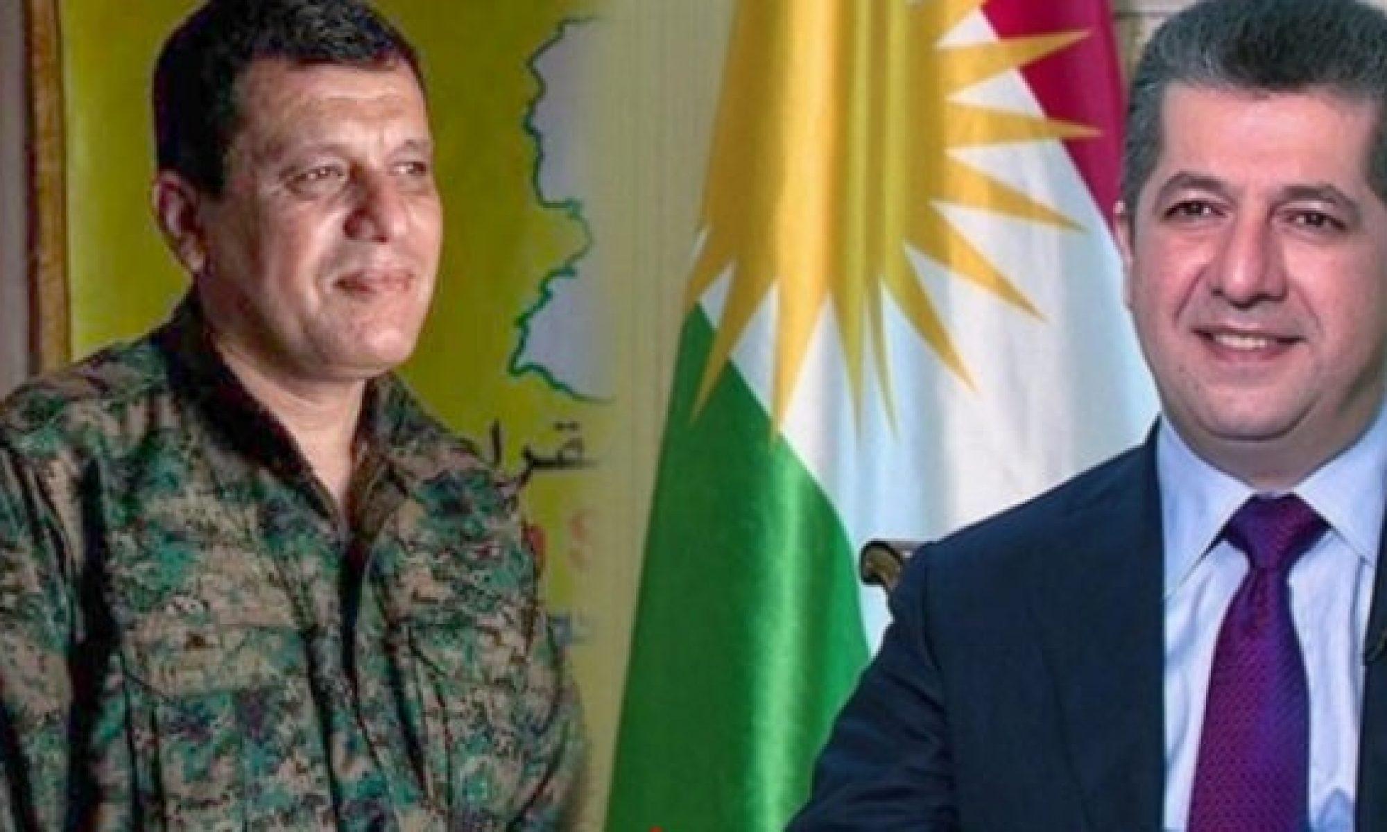 Abdi'den Başbakan'a: Halkımızın çıkarları için birlikte çalışmayı ümit ediyorum HSD; Mazlum Abdi; Şahin Cilo, Kürdristan, YPG