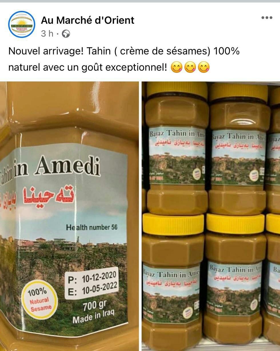 Amedi tahini artık Fransa'da