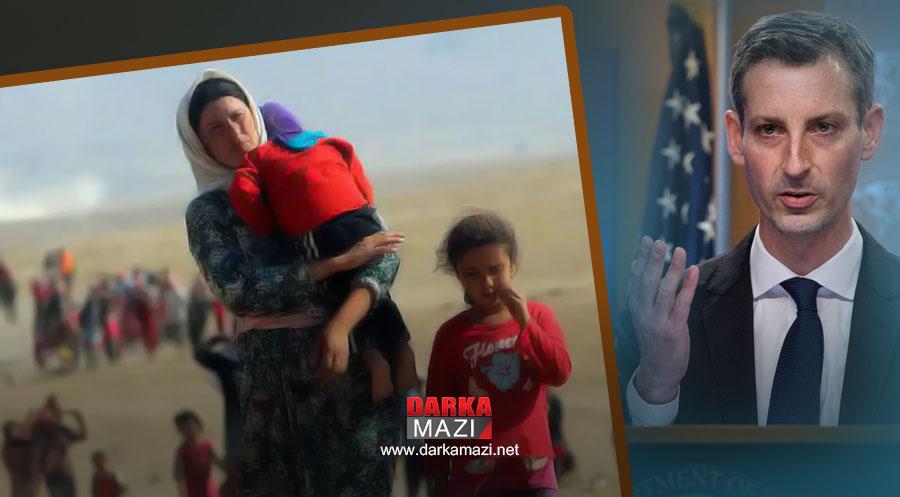 ABD: Ezidi toplumunun acılarını paylaşıyoruz