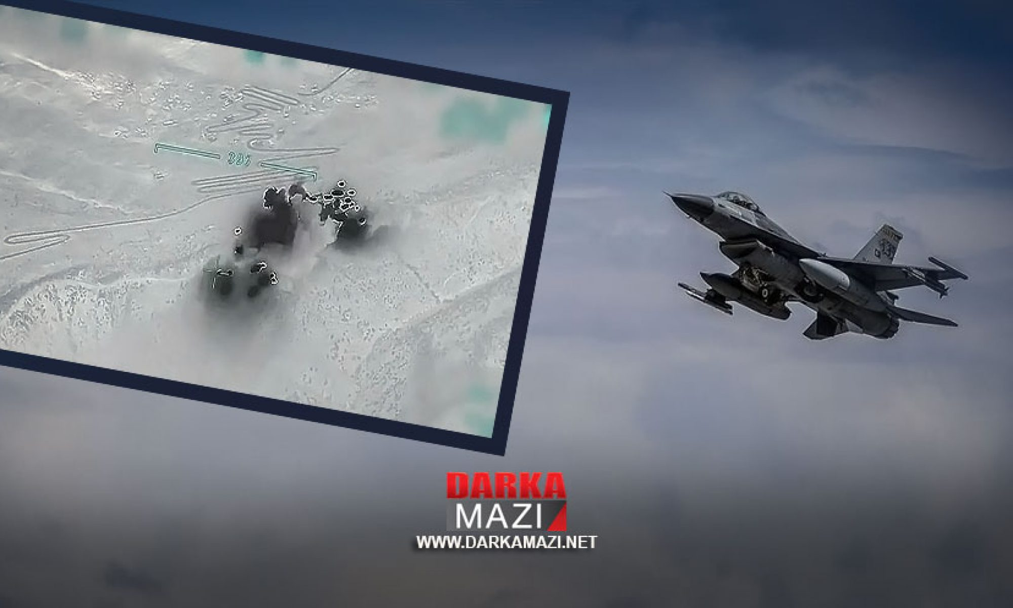 Türk savaş uçakları Qeledizê'nin bir köyünü defalarca bombaladı