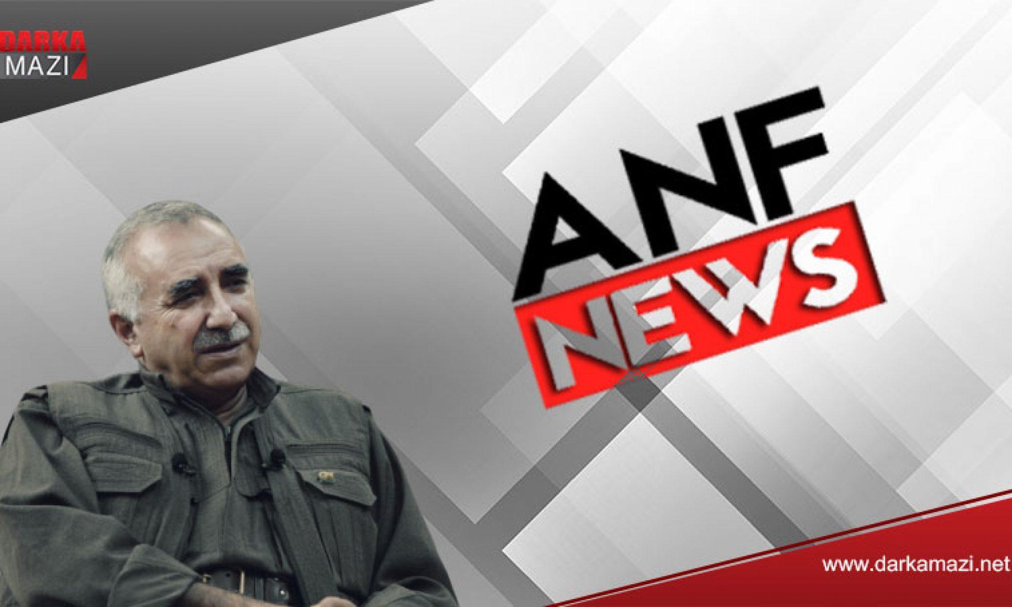 PKK medyasından Murat Karayılan'a sansür, Özgür Politika, ANF, Abdullah Ağar, Gare opersyonu, Kürdistan, Peşmerge, Roj Peşmergeleri,