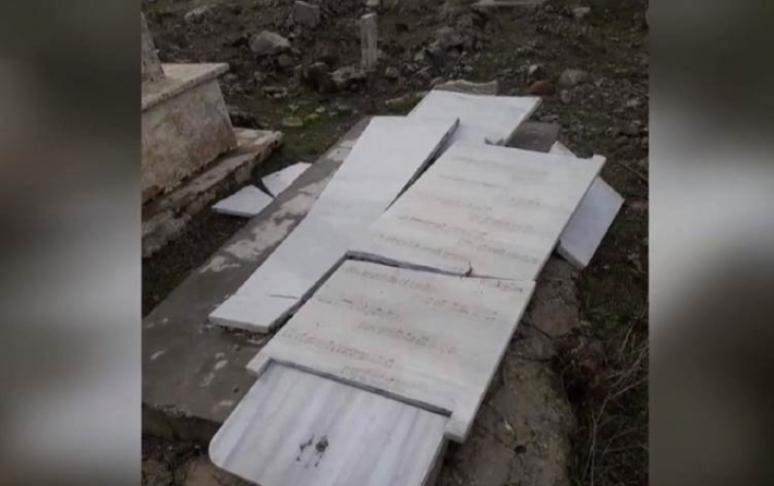 Kürt şair Arif Xelil Şexo'nun Efrîn'de ki mezarı da tahrip edildi