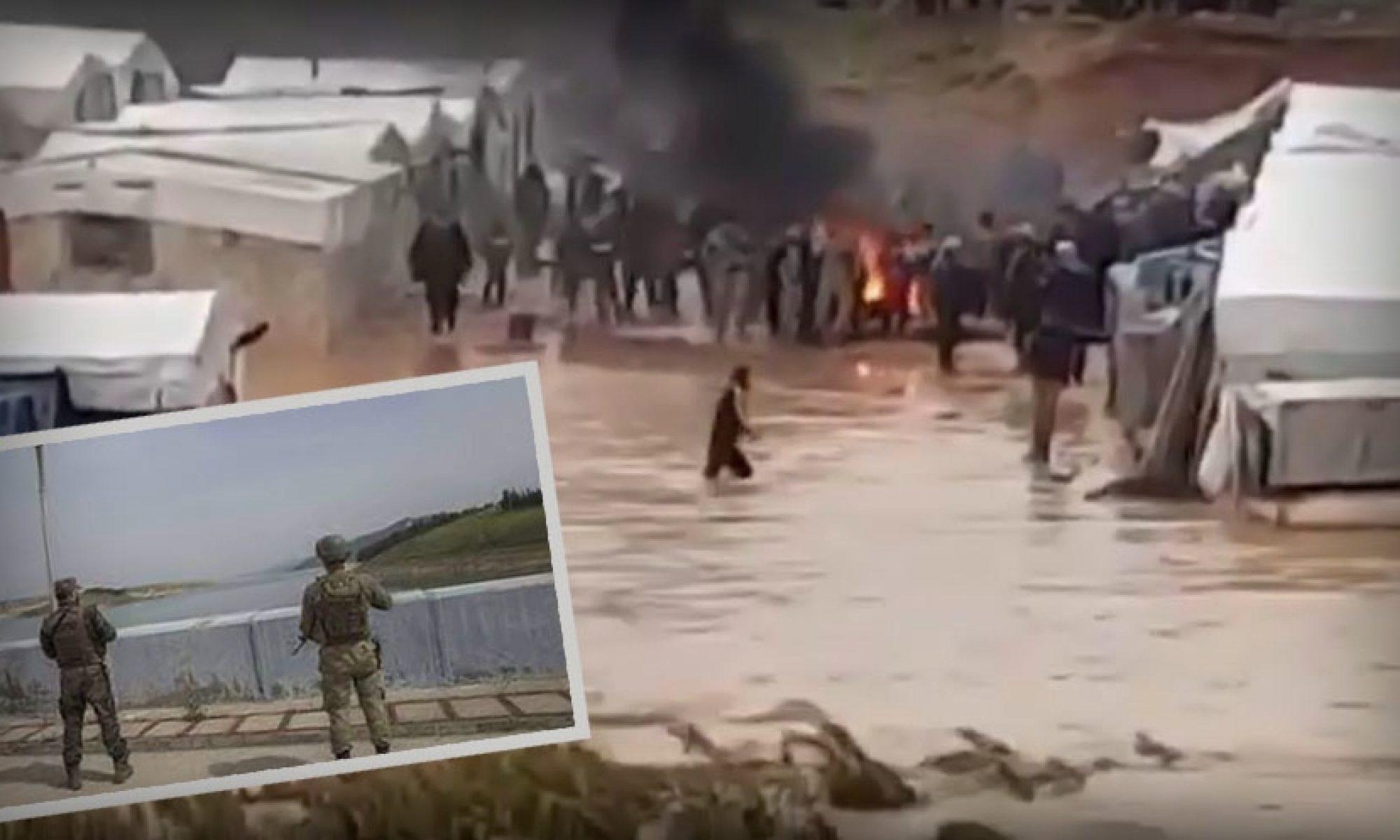 Türkiye Efrîn'de Meydanke barajı kapaklarını açtı, mülteci kamplarını sular bastı – Video izle