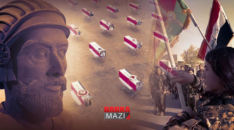 PKK Şengal'de Harpagoslaşmıştır, Koço köyü , DAİŞ; Irak Ordusu, Haşdi Şabi, Nadia murat, Peşmerge, Şengal Katilamı, 74. ferman, 75'inci ferman, Astiyages, Medler, Persler, KCK