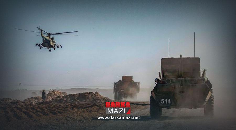 Rojava'da Rus helikopteri düştü