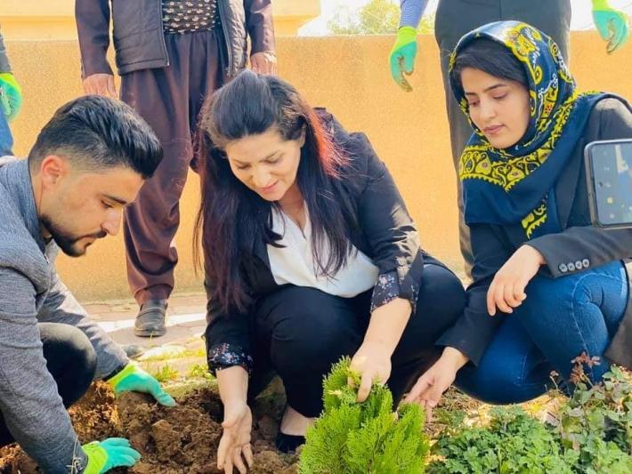 Mela Mistefa Barzanî vefat yıl dönümünde Kelar'da ağaç dikiler anıldı