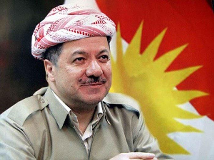 """Mesut Barzani: """"Kürtler, baskı ve zulümden kurtulmak ve özürlüğü elde etmek için Newroz'da ayaklanmıştır"""