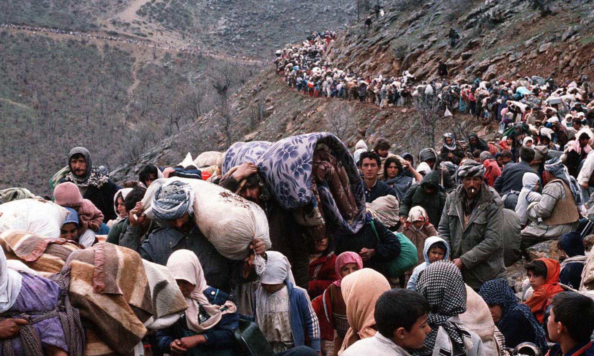 Kürtlerin büyük göçünün üstünden 30 yıl geçti Saddam, 31 Mart, Kürdistan, Peşmerge, Türkiye, BM Doğu Kürdistan