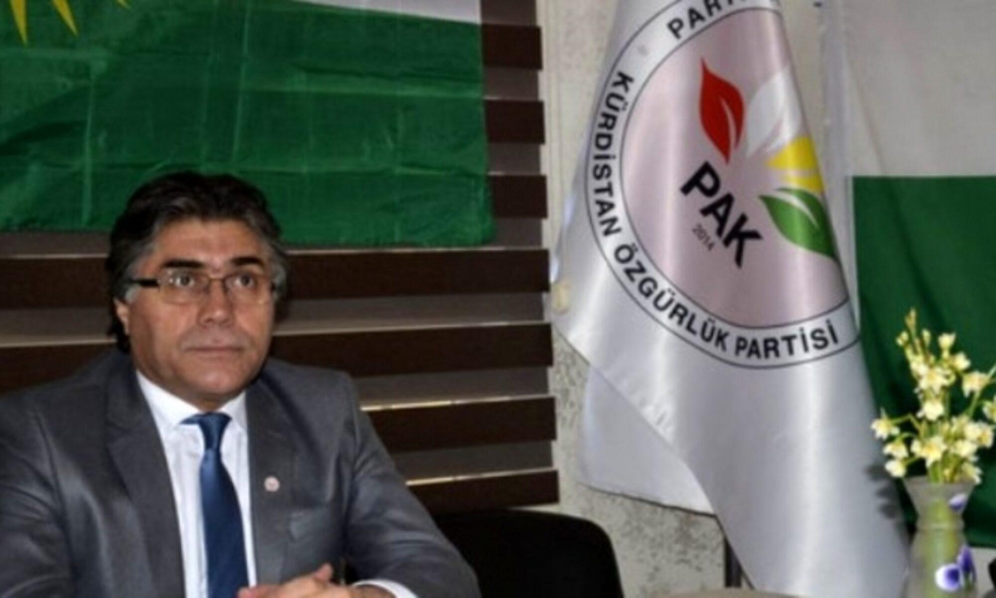 """PAK Genel Başkanı Özçelik: """"Bize göre bu işin anahtarı PKK'nin kuzey Kürdistan'da çatışmaları durdurmasındadır"""