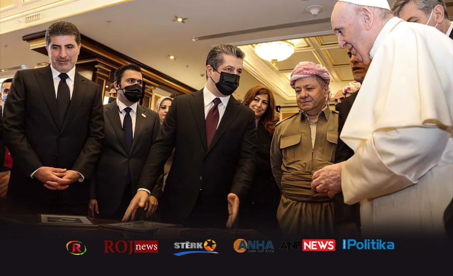 PKK medyası Papa'nın gelişini görmedi, Roj News, Musul, Bağdat, Dünya siyaseti, Kürdistan Bölgesel Hükümeti