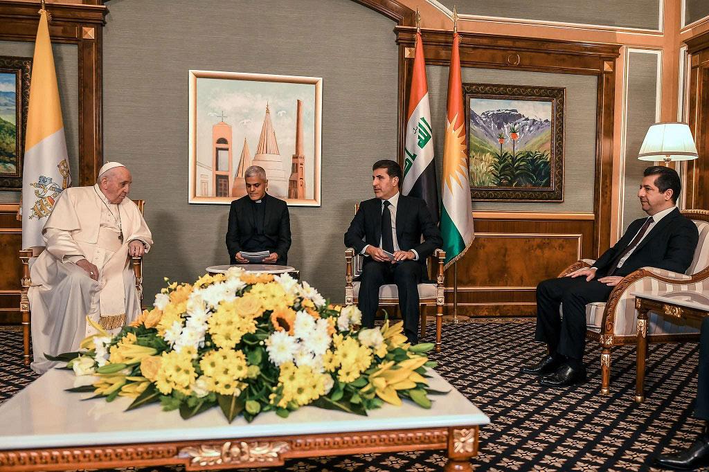 Fotoğraflarla Papa'nın Erbil ziyareti