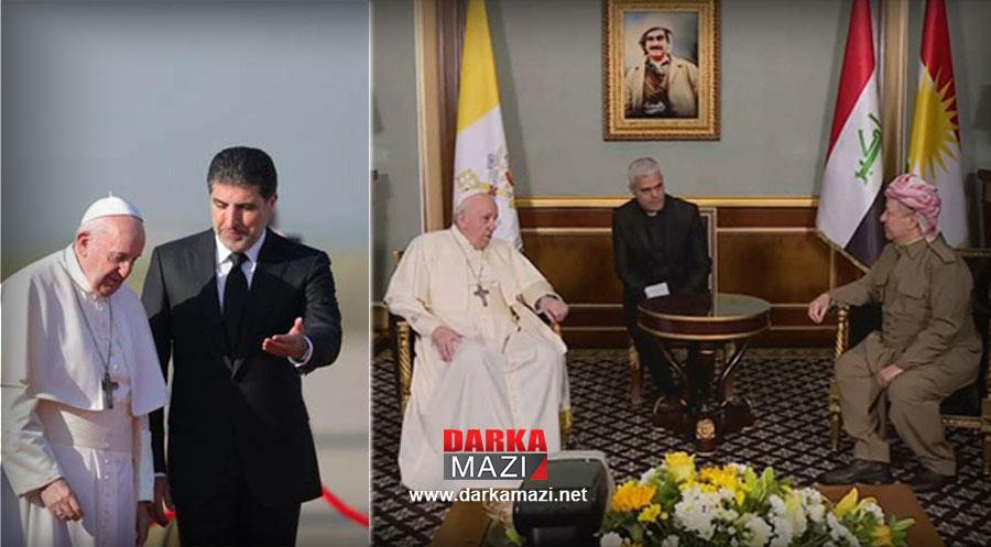 Papa Erbil'de: DAİŞ'le mücadele sürecinde Hristiyanları korudunuz