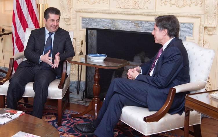Başbakan Mesrur Barzani, ABD Dışişleri Bakanı Blinken ile telefonda görüştü