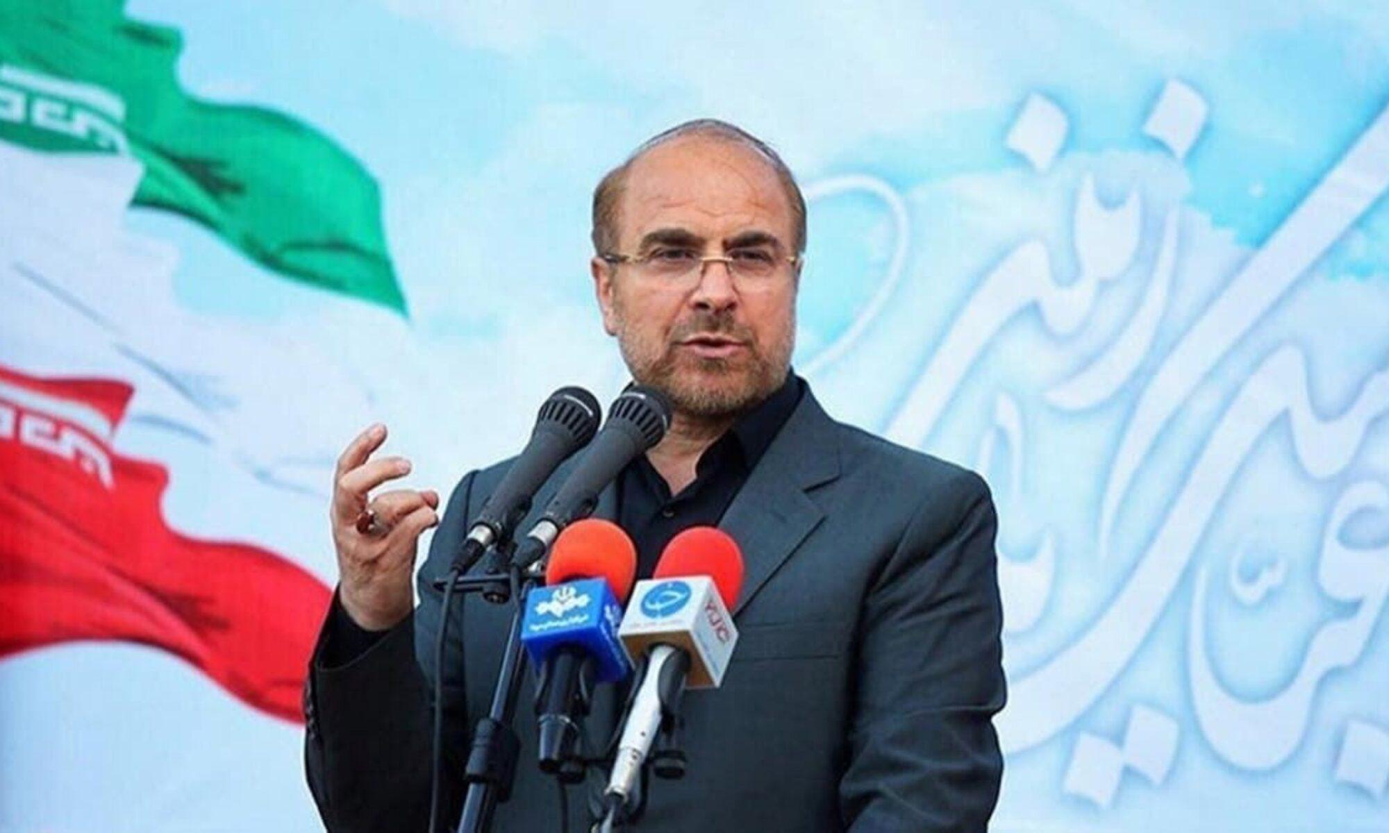 Cevat Zarif'in Kasım Süleymani yorumlarına ilk tepki Parlamento başkanı Kalibaf'tan geldi