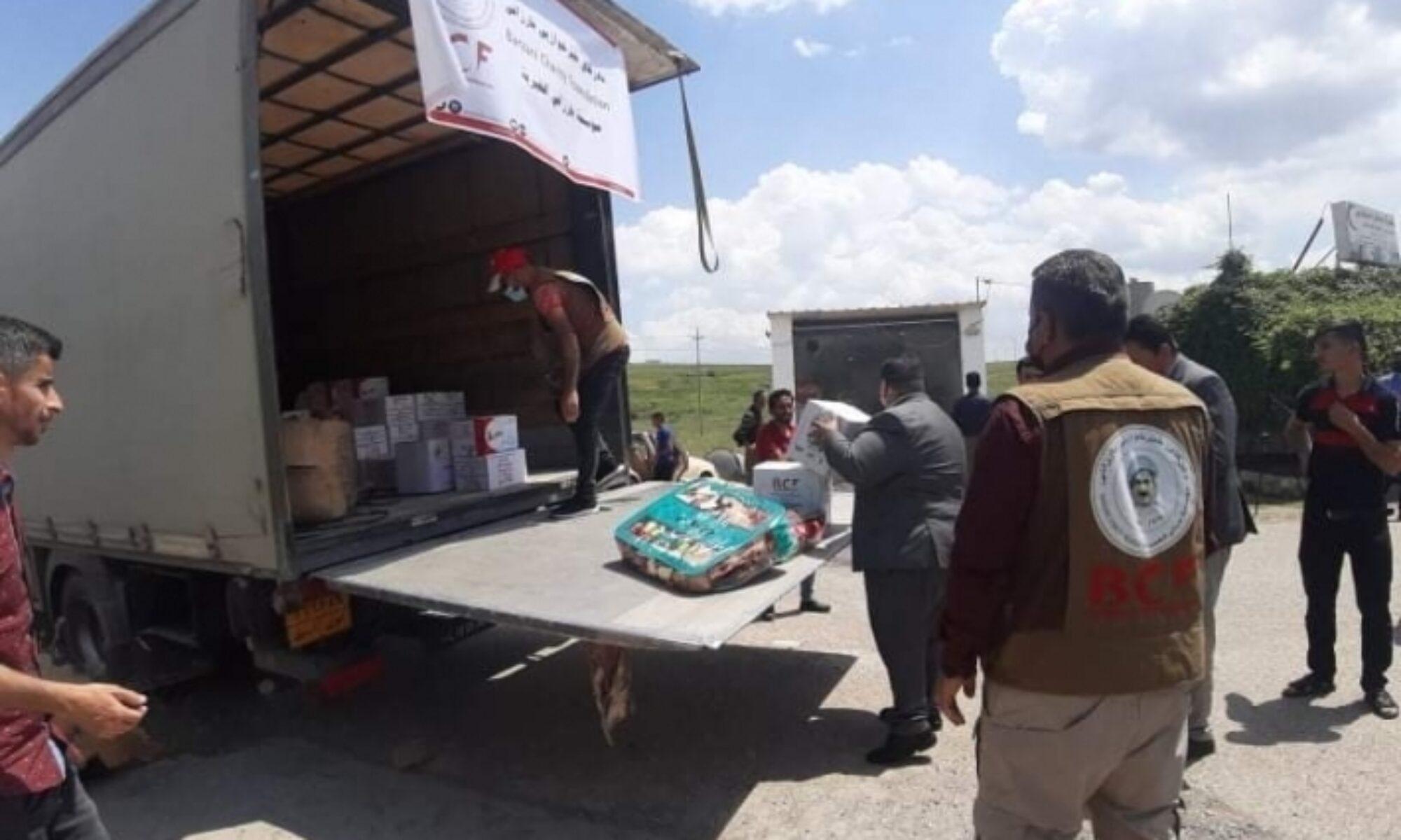 Barzani Yardım Vakfı PKK ve TSK çatışmasında boşalan Kêste köyü sakinlerine yardım ulaştırdı