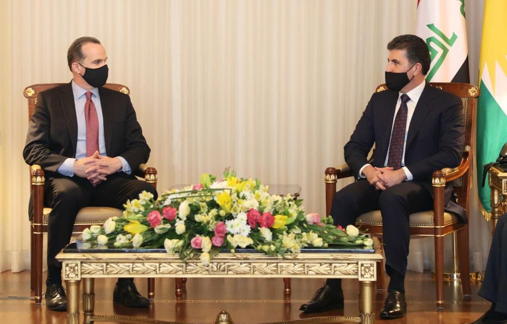 Brett McGurk'un başkanığındaki üst düzey ABD heyeti Hewler'de Neçirvan Barzani ile görüştü