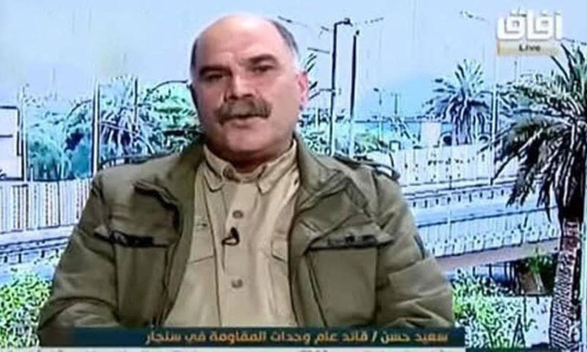 Şengal'deki PKK yöneticisi Nuri Maliki'nin TV'sine konuştu: En büyük savaşımız Peşmerge'ye karşı olan savaştırHaşdi Şabi, Ezidi, Saddam, Sait Hasan,