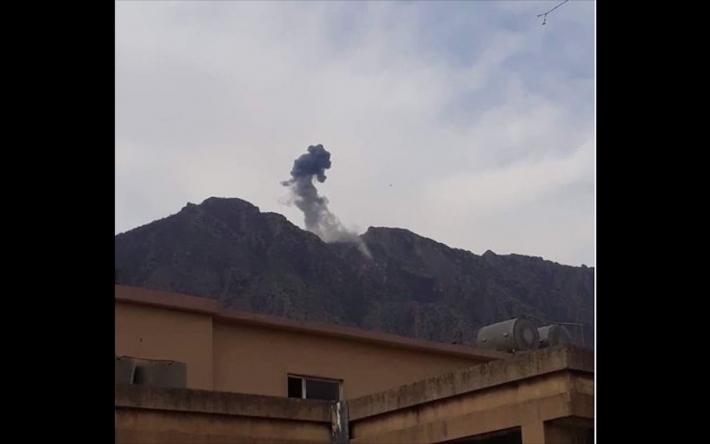 TSK Süleymaniye'nin Asos dağı kırsalını bombaladı