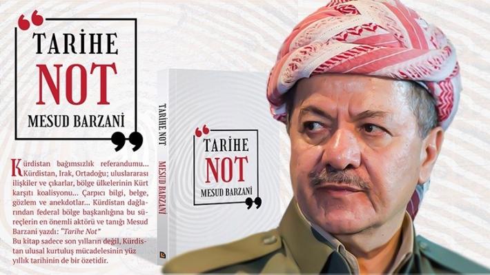 Mesut Barzani'nin 'Tarihe Not' kitabının Türkçesi Avesta Yayınları tarafından basıldı