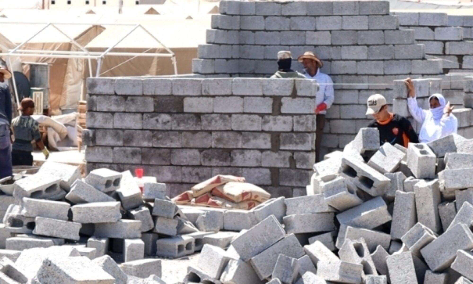 Barzani Yardım Vakfı (BFC) bu kez çadırları yanan Şarya kampı sakinleri için ev inşa ediyor