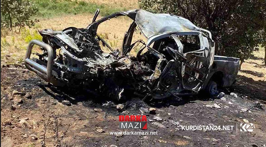 Türk savaş uçaklarının Süleymaniye kırsalına saldırısında üç gerilla ve bir sivil hayatını kaybetti